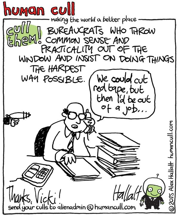 cull bureaucrats