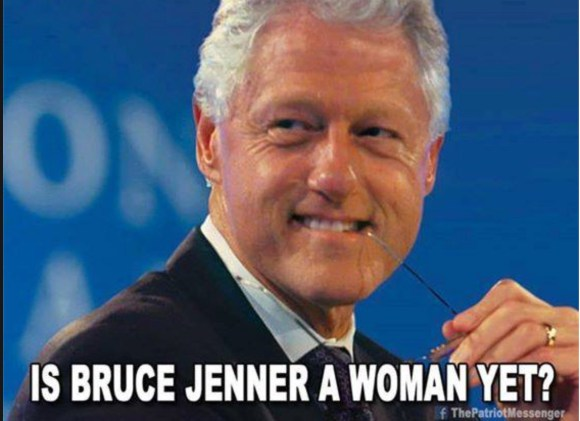 Bruce Jenner Bill Clinton