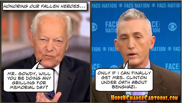 Gowdy grilling on Memorial Day