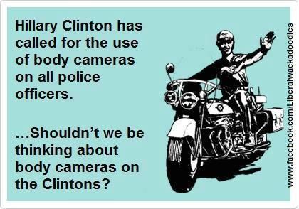 HIllary Clinton body cameras