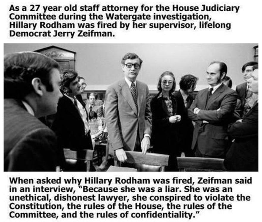 Hillary filed during Watergate