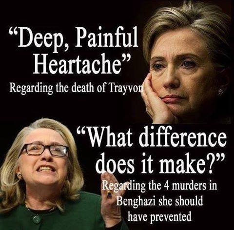 Hillary on Benghazi and Trayvon