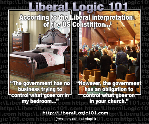 Liberals want government out of bedroom and into church