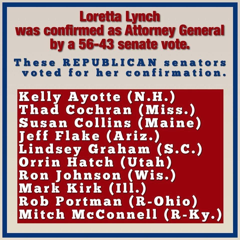 RINO senators voted for Lynch