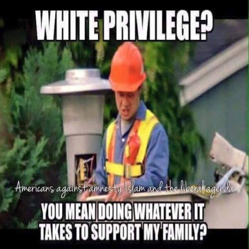 White privilege often equals hard work
