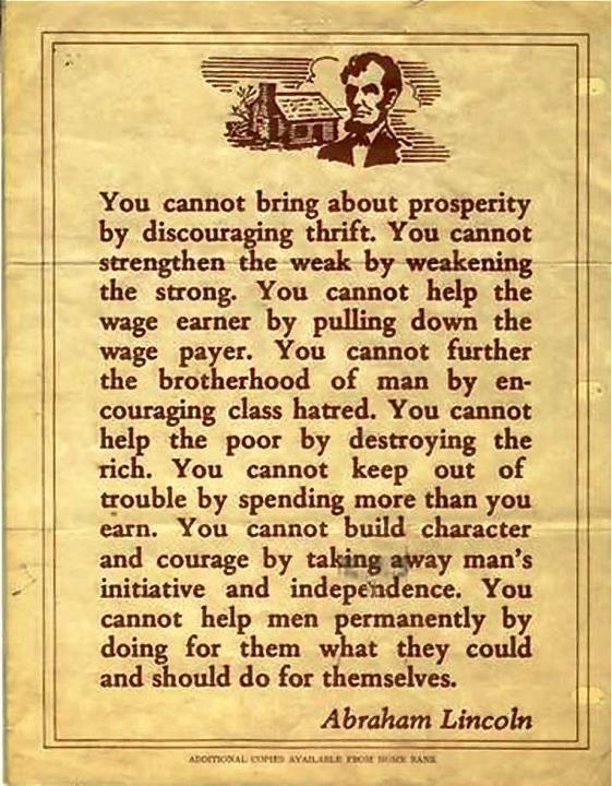 Abraham Lincoln quotation
