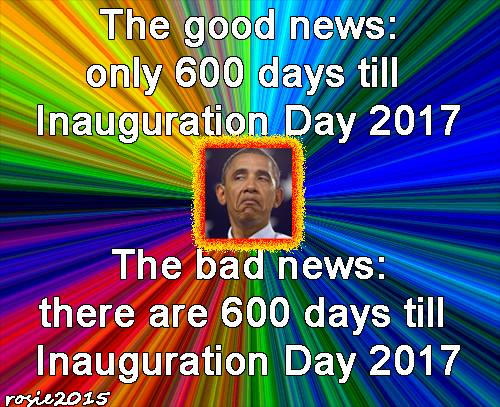 Good news bad news about Obama leaving office