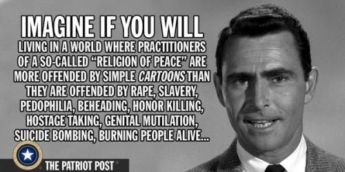 Twilight Zone religion of peace