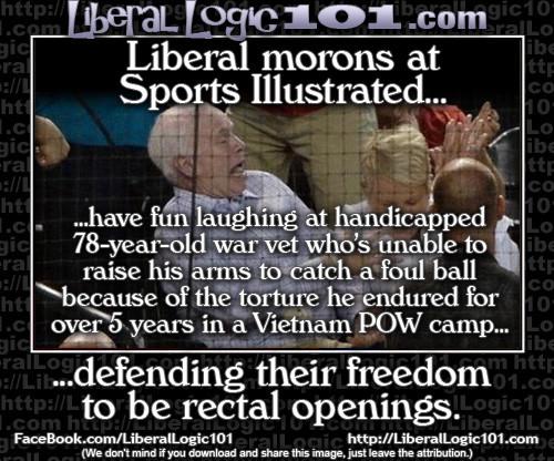 Liberal morons at Sports Illustrated