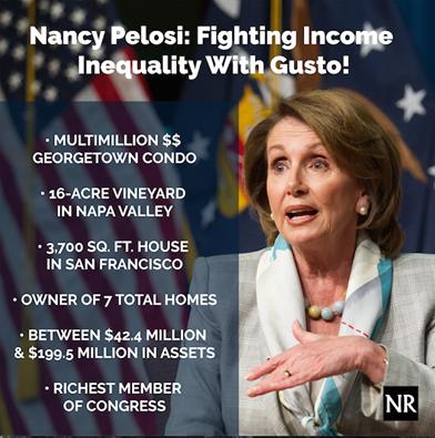Nancy Pelosi income inequality