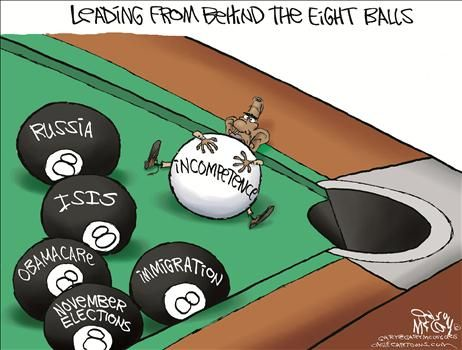 Obama leading from behind eight balls