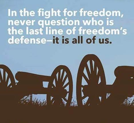 All of us must defend freedom