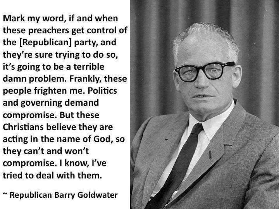 Barry Goldwater on conservative Christians
