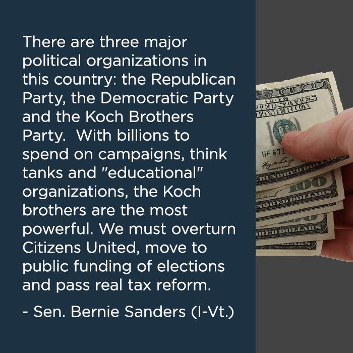 Bernie Sanders on Citizens United