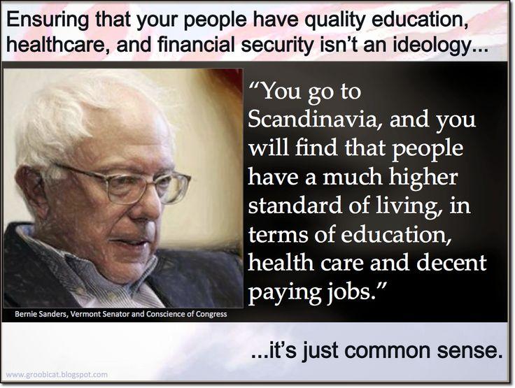 Bernie Sanders on Scandinavian economy