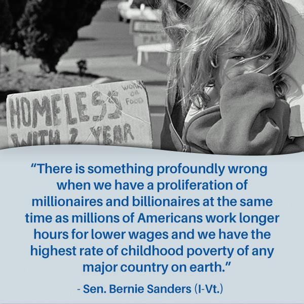 Bernie Sanders on childhood poverty