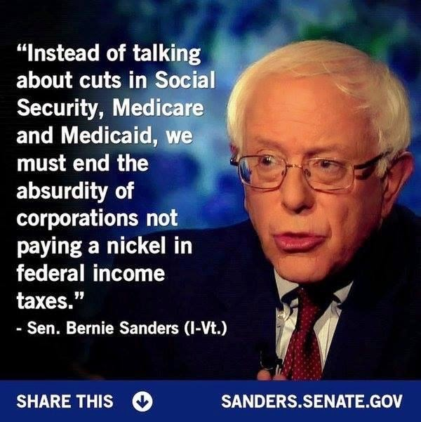 Bernie Sanders on corporations and federal income tax