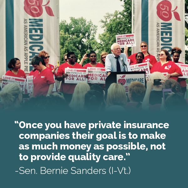 Bernie Sanders on private insurance companies