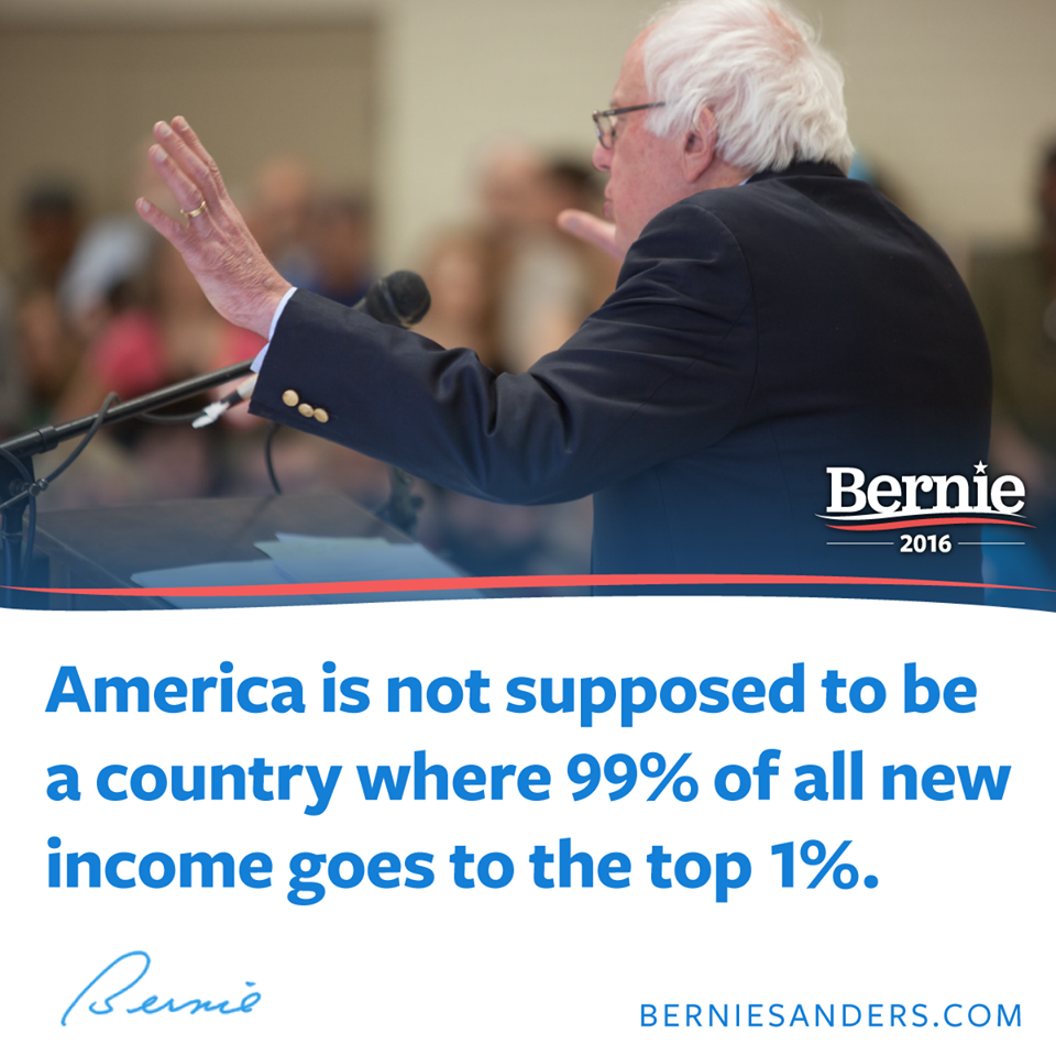 Bernie Sanders on the 1 percent of wealth