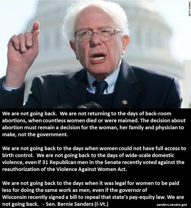 Bernie Sanders on women's rights