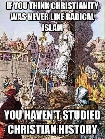 Christianity like radical Islam