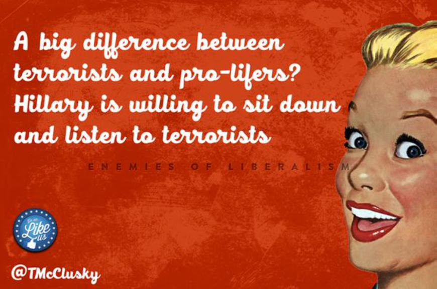 Difference between terrorists and pro-lives