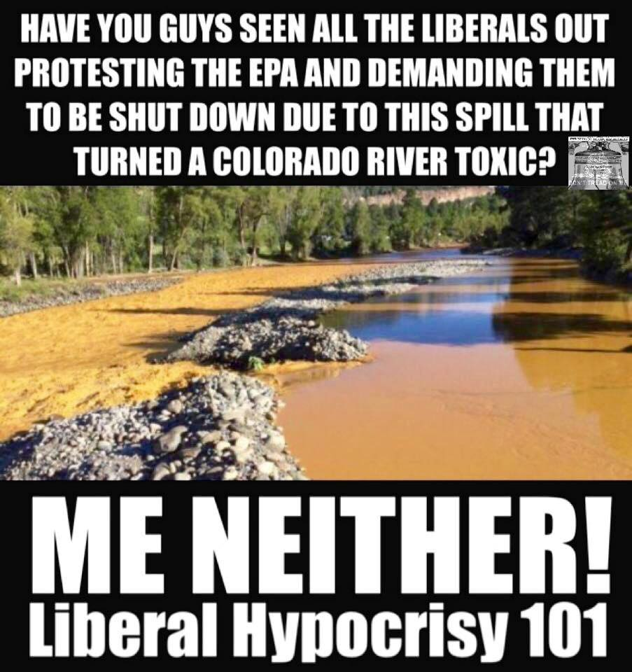 EPA pollution and liberal hypocrisy