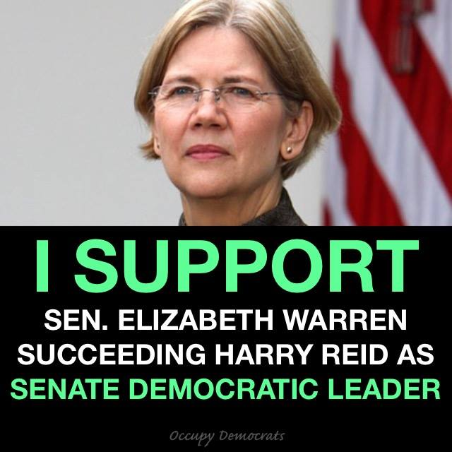 Elizabeth Warren for Senate Democrat Leader