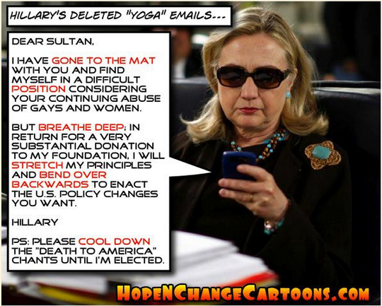 Hillary's yoga email