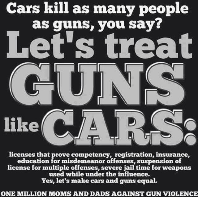Let's treat guns like cars