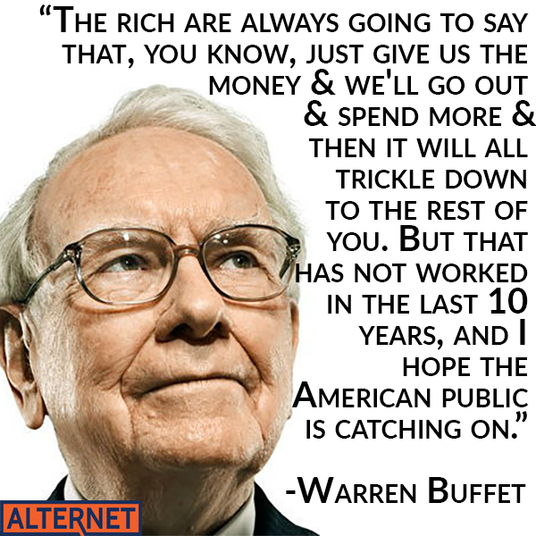 Warren Buffet against trickle down