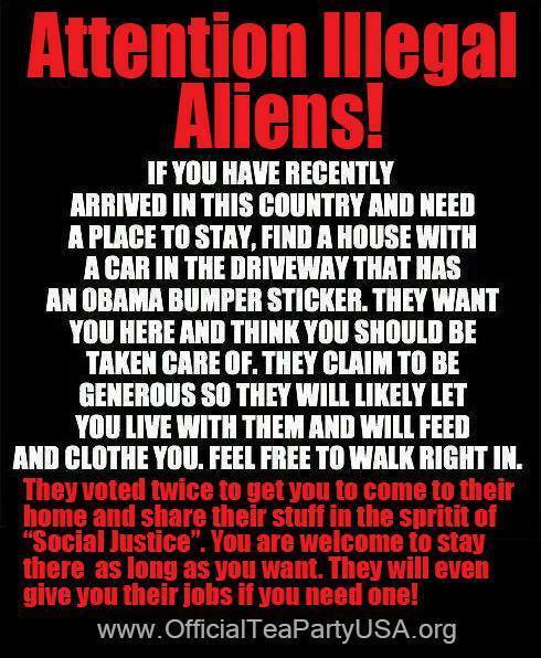 Welcome to illegal aliens