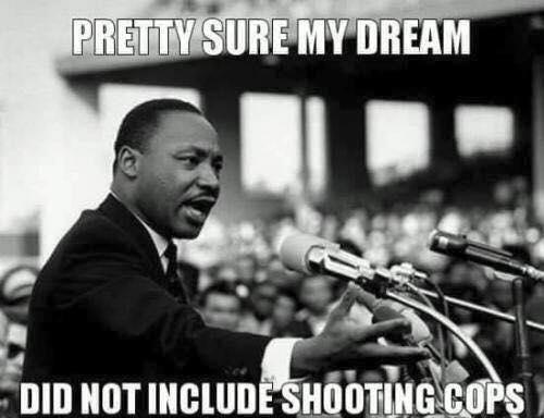 Dream did not involve shooting cops