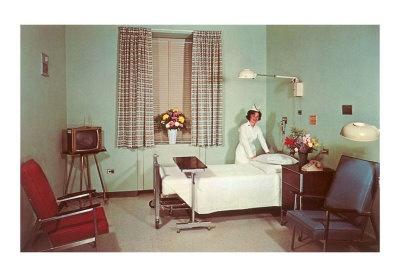 Hospital room 1950s