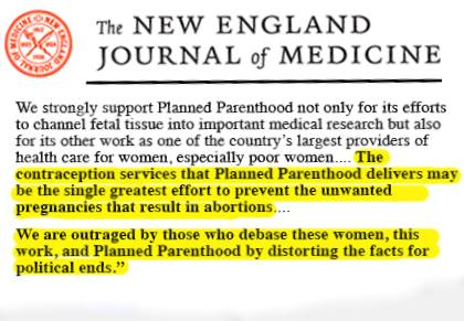 NEJM on Planned Parenthood