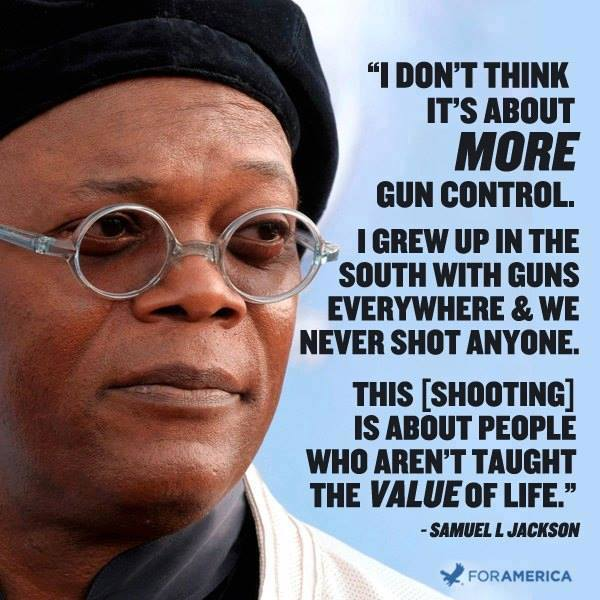 Samuel Jackson on gun control