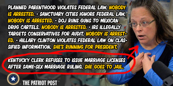 The double standard on violating the law