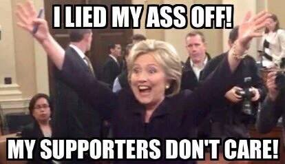Hillary's supporters forgive lies