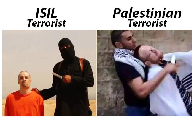 ISIL and Palestinian terrorists are the same