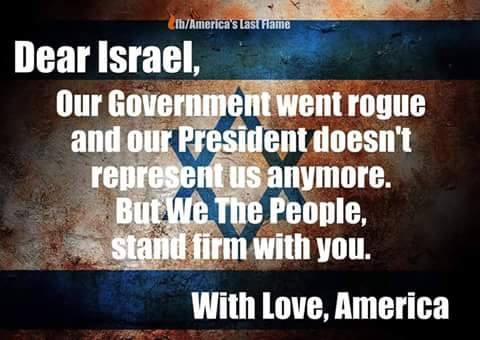Rogue American government vis a vis Israel
