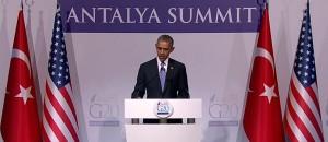 President Obama in Turkey at G20