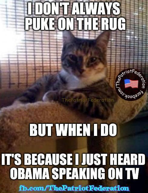 Cat puke Obama