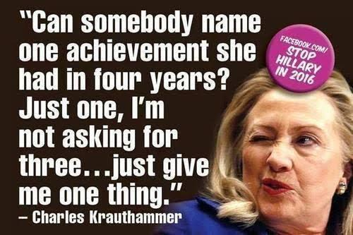 Hillary's lack of accomplishments