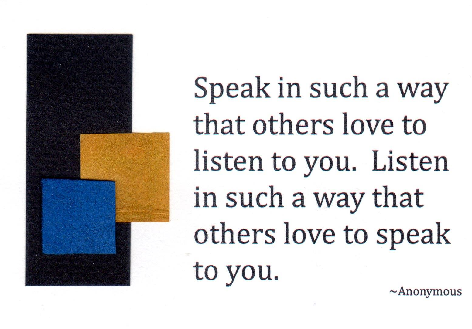 Listening and speaking with love
