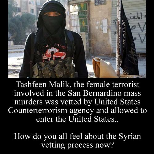 Tashfeen Malik veted by US