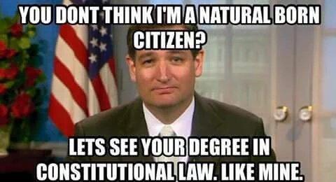 Ted Cruz natural born citizen