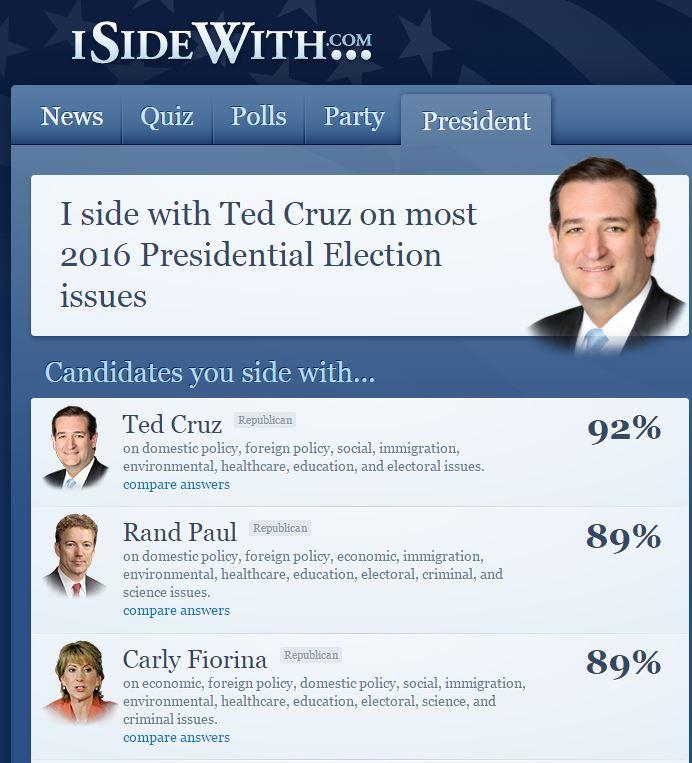 I side with Ted Cruz