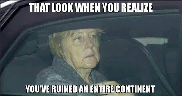 Merkel ruins continent