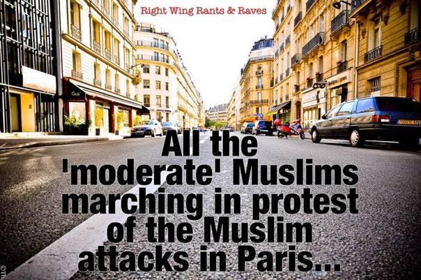 Muslims protesting Paris terror attacks