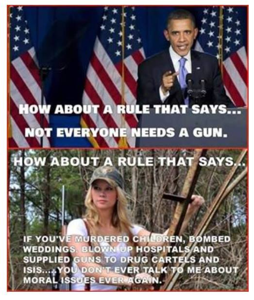 Obama not the person to talk about gun violence